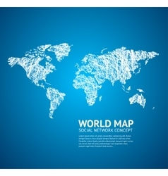World Map Stylize vector image