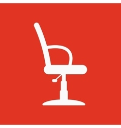 The barber chair icon armchair symbol flat vector