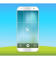 Modern smartphones photo application template vector