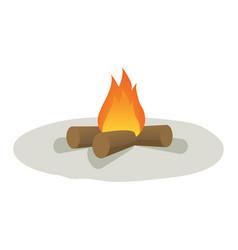 cartoon campfire vector image