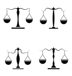Balance icon set vector