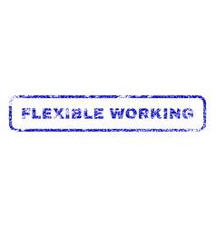 Flexible working rubber stamp vector