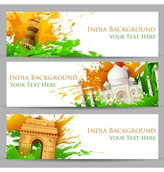 Indian monument banner vector