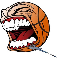 Screaming basketball vector