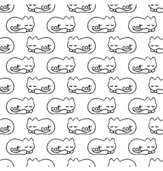 Seamless pattern with dream cat vector