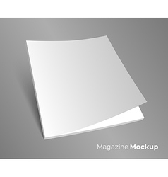 3d blank brochure cover on gray vector