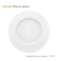 Empty white plate isolated on white vector