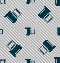 Negative films icon symbol seamless pattern with vector