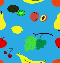 Funny fruit pattern vector