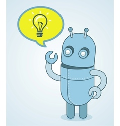 Cute robot - idea concept vector