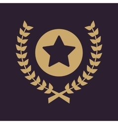 Award icon priz symbol flat vector