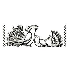 Birds decorative ornament vector