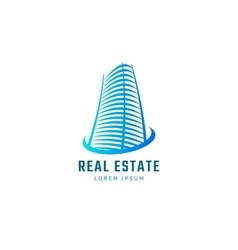 Blue real estate vector image vector image