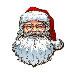 Christmas portrait santa claus vector