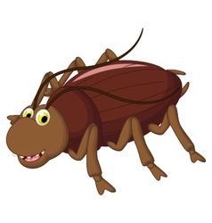 Cockroach cartoon for you design vector