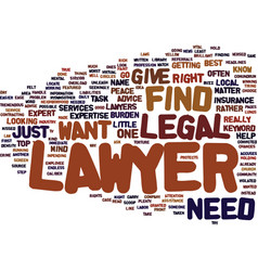 Find a lawyer text background word cloud concept vector
