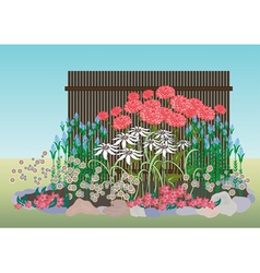 Flower bed vector