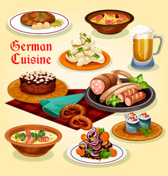 German cuisine national dishes cartoon icon vector