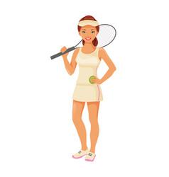 Girl tennis player vector