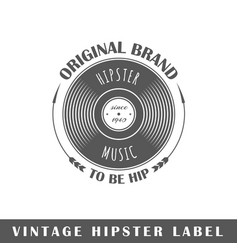 Hipster label vector