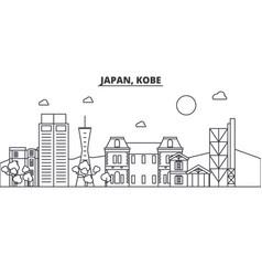 japan kobe architecture line skyline vector image