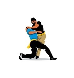 Krav maga sparring cartoon vector