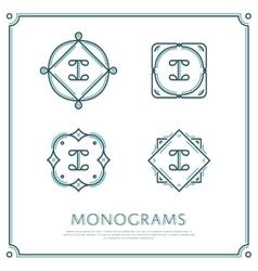 Letter i monogram vector