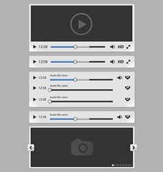 media elements set white vector image vector image