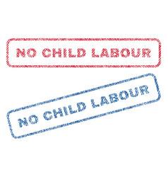 No child labour textile stamps vector