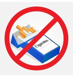 No smoking sign on white background sign vector