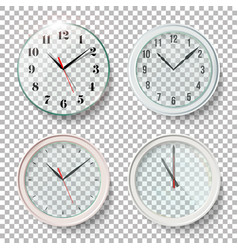 Realistic wall clocks set vector