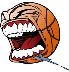 screaming basketball vector image