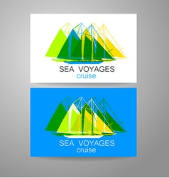 Sea cruise vector