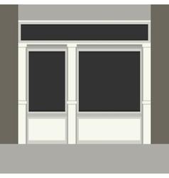Shopfront with Black Windows Light Store Facade vector image