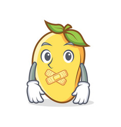 Silent mango character cartoon mascot vector