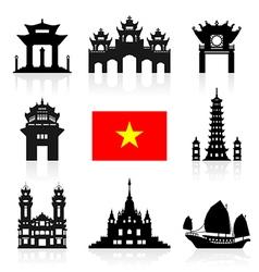 Vietnam travel icon vector