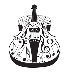 Violin with Notes2 vector image vector image
