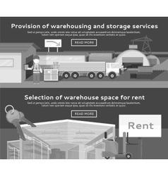 Warehouse Storage Service Product vector image vector image