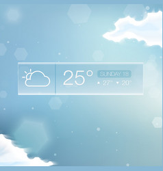 Weather Widget Notification vector image