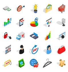 Website development icons set isometric style vector
