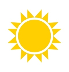yellow sun icon vector image vector image