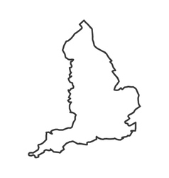 Map silhouette england design vector