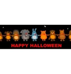 funny halloween animals vector image