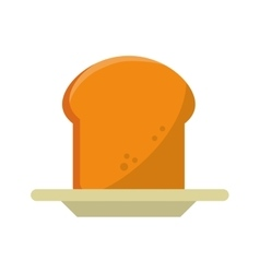 Isolated bread food design vector