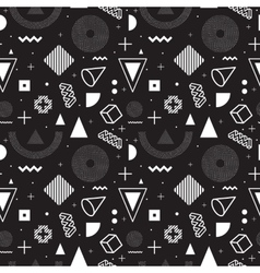 Memphis style seamless pattern vector