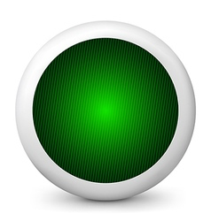 green glossy icon vector image