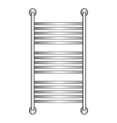 Heated towel rail vector