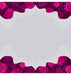 Color valentine background with roses vector