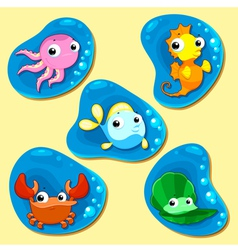 Happy sea family vector