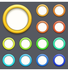 Modern colorful circle button set vector